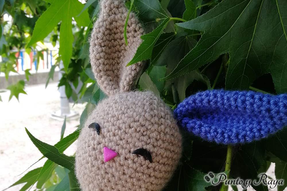 conejo amigurumi patrón