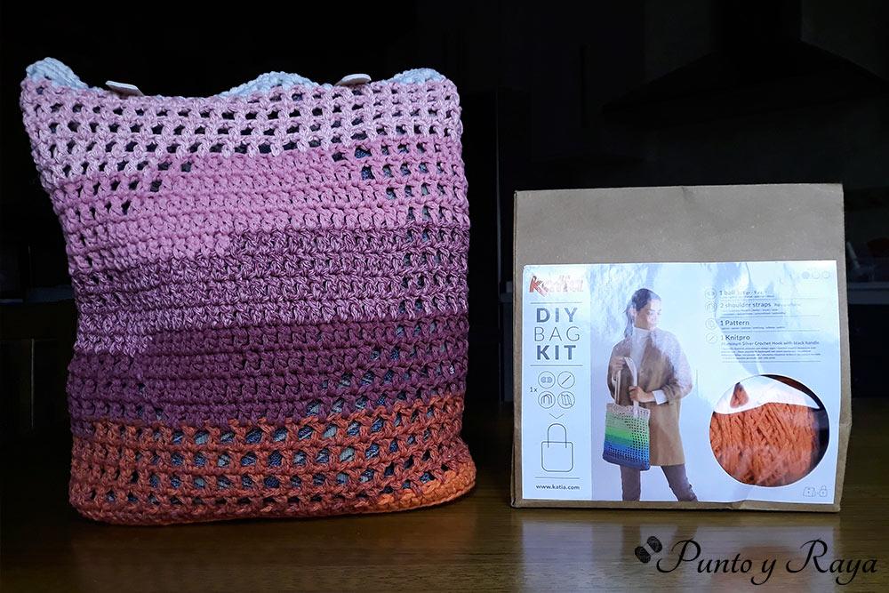 Kit de bolso DIY de lana ganchillo para el día de la madre